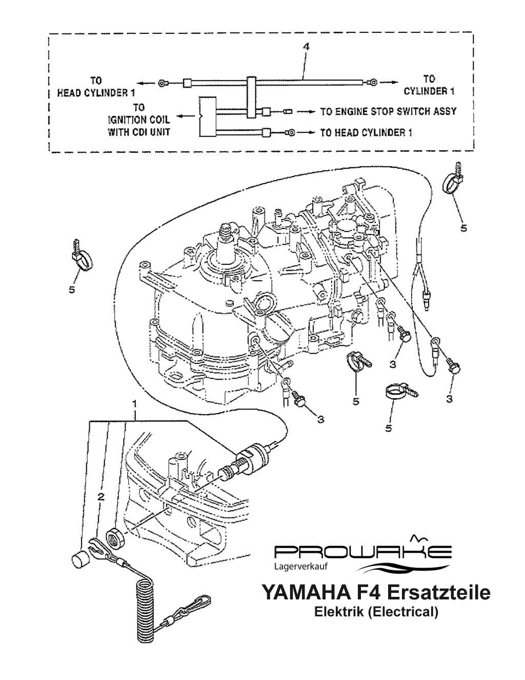 lagerverkauf yamaha f4 au enborder elektrik ersatzteil. Black Bedroom Furniture Sets. Home Design Ideas