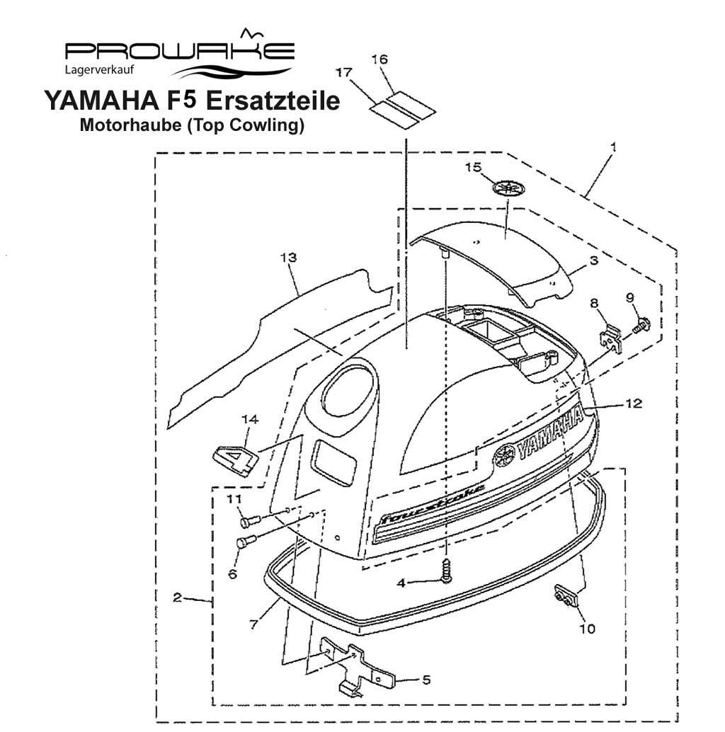 lagerverkauf yamaha f4 au enborder motorhaube ersatzteil. Black Bedroom Furniture Sets. Home Design Ideas