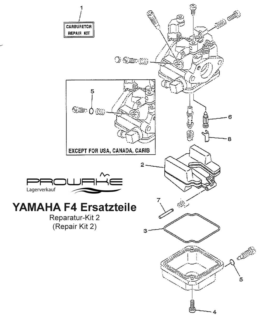 lagerverkauf yamaha f4 au enborder reparaturkit 2. Black Bedroom Furniture Sets. Home Design Ideas