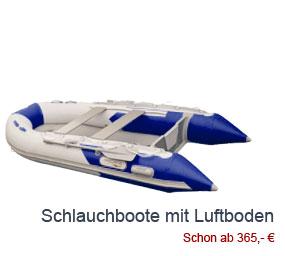 Schlauchboote mit Luftboden