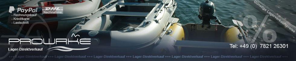 Prowake - Schlauchboote und Aussenborder-Motor günstig online kaufen