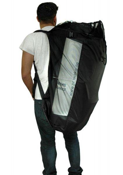 Aufblasbares SUB mit Transport-Rucksack und Zubehör