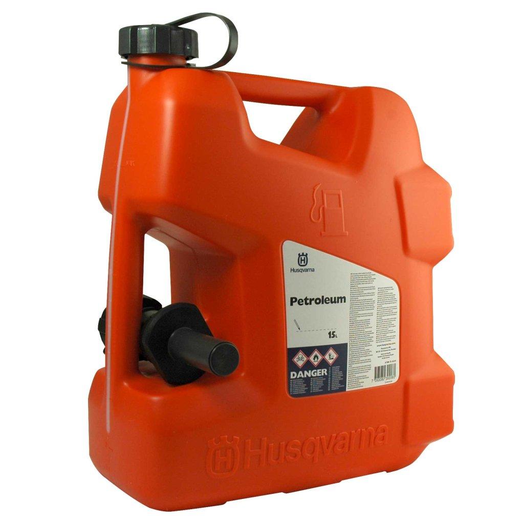 lagerverkauf husqvarna benzinkanister 15 liter mit sicherheits einf llsystem g nstig kaufen. Black Bedroom Furniture Sets. Home Design Ideas