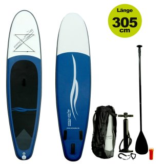 SUP  (inflatable iSUP) PROWAKE Shark2:  Stand Up Paddle Board 305 cm / 912 - Hochdruck Drop-Stitch Verbundboden (Versand kostenfrei)*